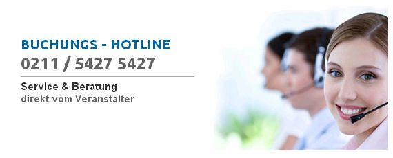 Buchungshotline 0211 / 5427 5427
